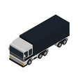 freight truck isometric icon vector image vector image