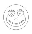 frog icon design vector image