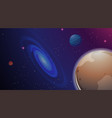 galaxy and planet scene vector image