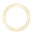 golden shiny circle frame on transparent vector image