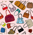 handbags seamless pattern fashion bag accessory vector image