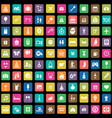 holiday 100 icons universal set for web and ui vector image vector image