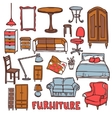 Home Furniture Set vector image vector image