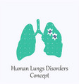 human lungs filled with puzzle pattern vector image