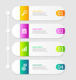 infographic elements layout 4 steps vector image vector image