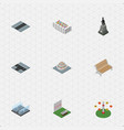isometric architecture set of crossroad aiming vector image vector image