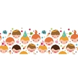 Kids at a birthday party horizontal seamless vector image vector image