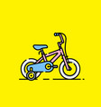 kids bicycle icon vector image vector image