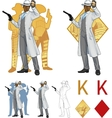 King of diamonds afroamerican police chief and vector image vector image