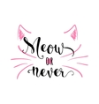 kitten calligraphy sign for vector image vector image