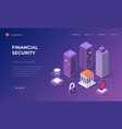 landing page for financial security vector image vector image