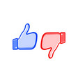 like and dislike icons thumbs up and thumbs down vector image vector image