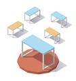lowpoly isometric office table vector image vector image