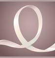 lung cancer awareness ribbon vector image