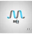 M logoMedia logo template vector image vector image