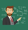 male teacher at school in the classroom vector image vector image