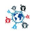mankind and person conceptual logo unique symbol vector image vector image