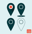 map pointer icon pin location symbol set vector image vector image