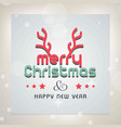 merry chrismtas card with horns and light vector image