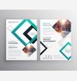 modern business flyer brochure design concept vector image