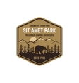 National park vintage badge Mountain explorer vector image vector image