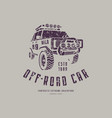 off-road car emblem vector image