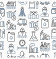 oil industry seamless pattern with thin line icons vector image