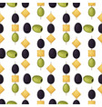 olives seamless pattern with ripe olives vector image vector image