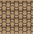 owl stylized art seemless pattern nature colors vector image vector image