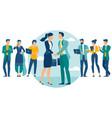 people shake hands vector image vector image