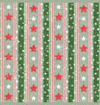 red and green abstract geometric christmas pattern vector image