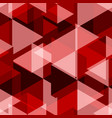 red geometry abstract seamless pattern vector image vector image