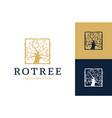 royal tree logo abstract linear tree logo icon vector image vector image