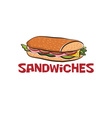 sandwich design template vector image vector image