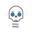 scull emoji line icon sign vector image vector image
