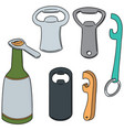 set of bottle opener vector image