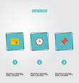 set of task manager icons flat style symbols with vector image vector image