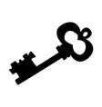 silhouette vintage key vector image vector image