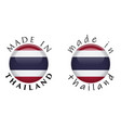 simple made in thailand 3d button sign text vector image vector image