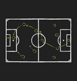 soccer or game strategy chalk hand drawing vector image