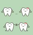 spacing teeth - diastema vector image vector image