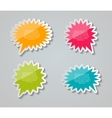 Speech Bubbles Stickers vector image vector image