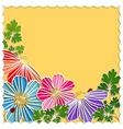 Springtime Colorful Paper Cut Flower