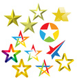 Star icons and logos collection vector image