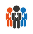 teamwork businessmen silhouette icon vector image vector image