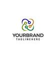 technology logo design concept template vector image vector image