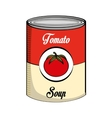 Tomato can isolated icon vector image