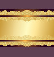 vintage gold frame with place for the text vector image
