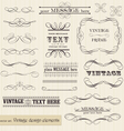 vintage set calligraphic design elements and page vector image vector image