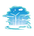 windmill turbines vector image